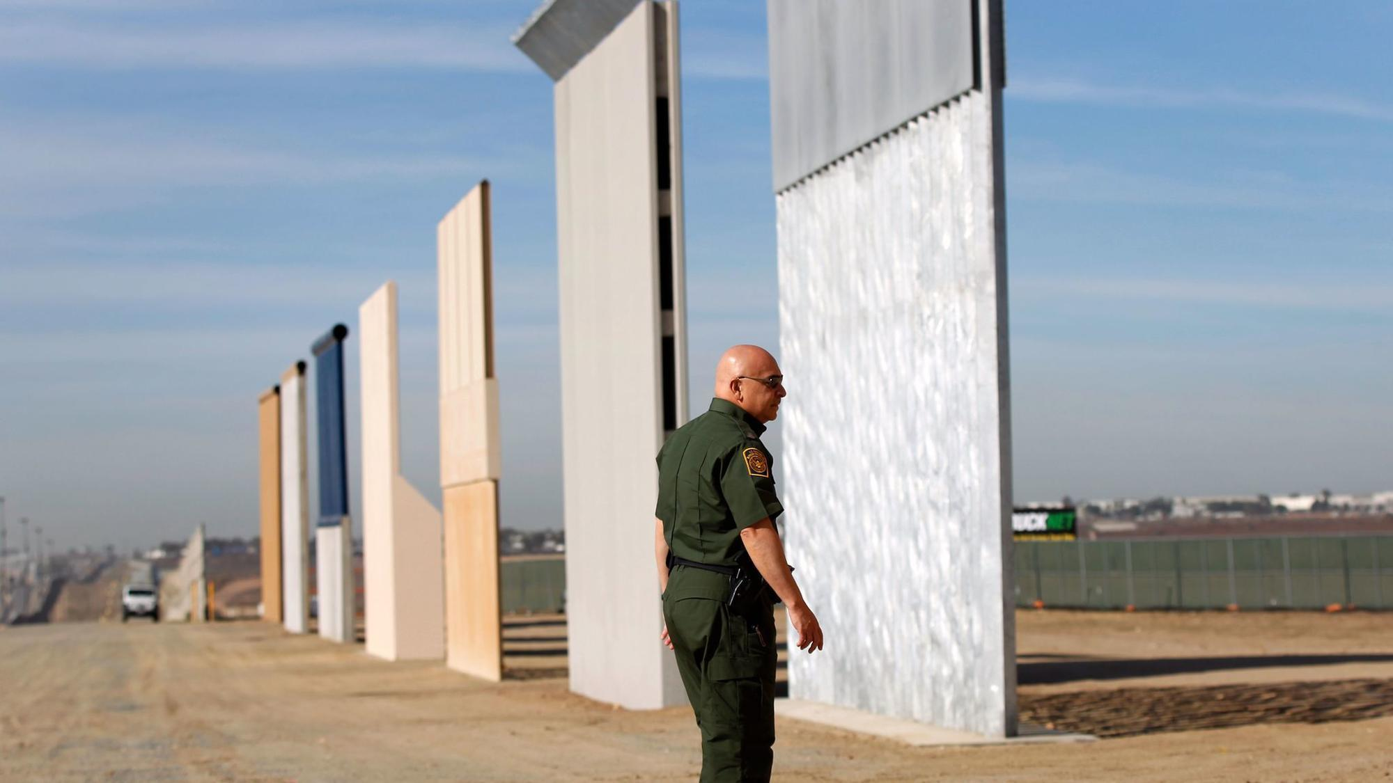 Trump 39 s border wall prototypes got video surveillance for Border wall