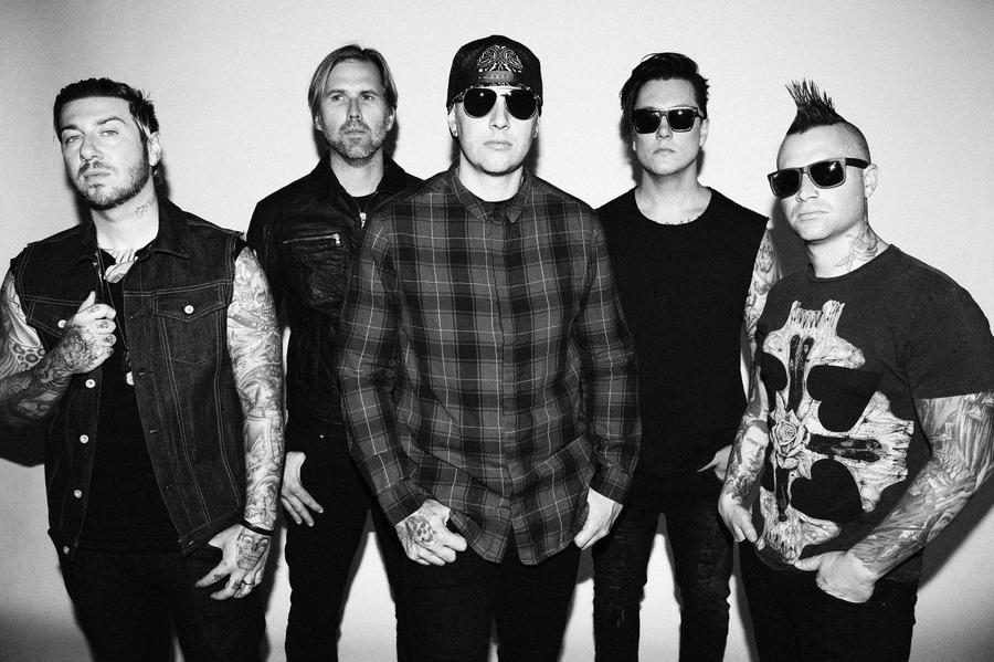 Avenged Sevenfold, from left: Zacky Vengeance, Brooks Wackerman, M. Shadows, Synyster Gates and Johnny Chris (Jeff Forney)