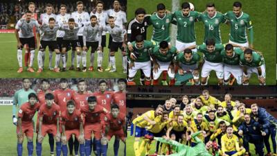 GRUPO F: Alemania, México, Suecia y Corea del Sur