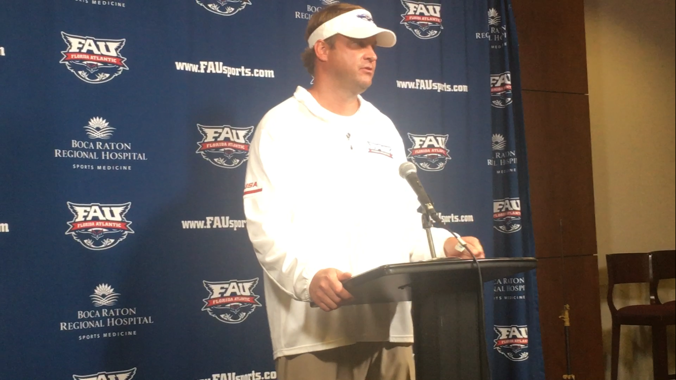 FAU coach Lane Kiffin after Saturday's win against North Texas in Conference USA Championship Game