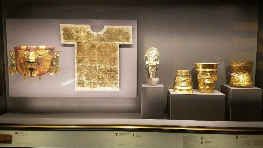 Gold is the through-line of the exhibition.