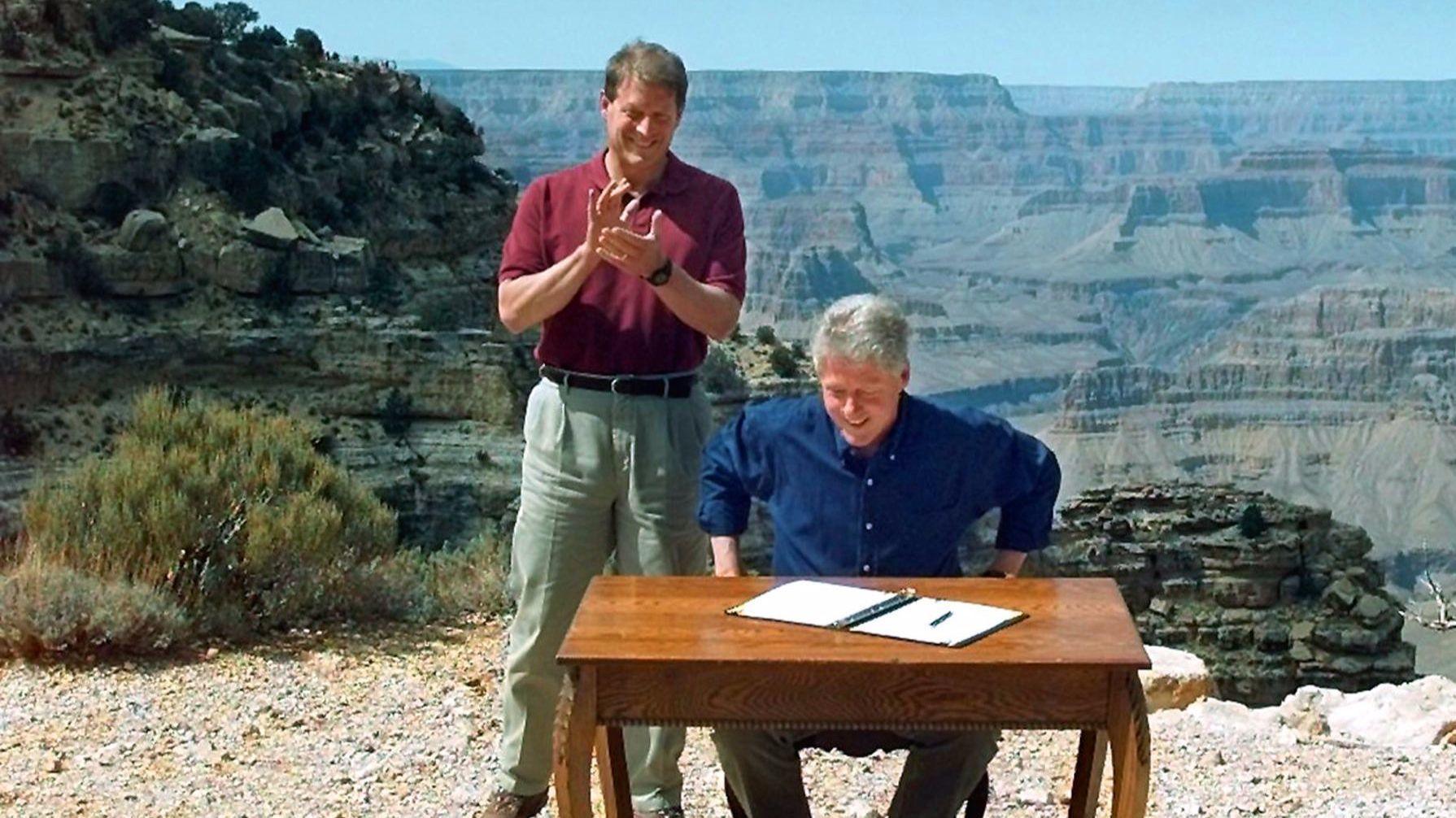 President Bill Clinton and Vice President Al Gore