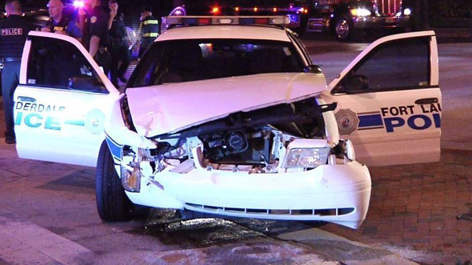 Car Crash Downtown Fort Lauderdale