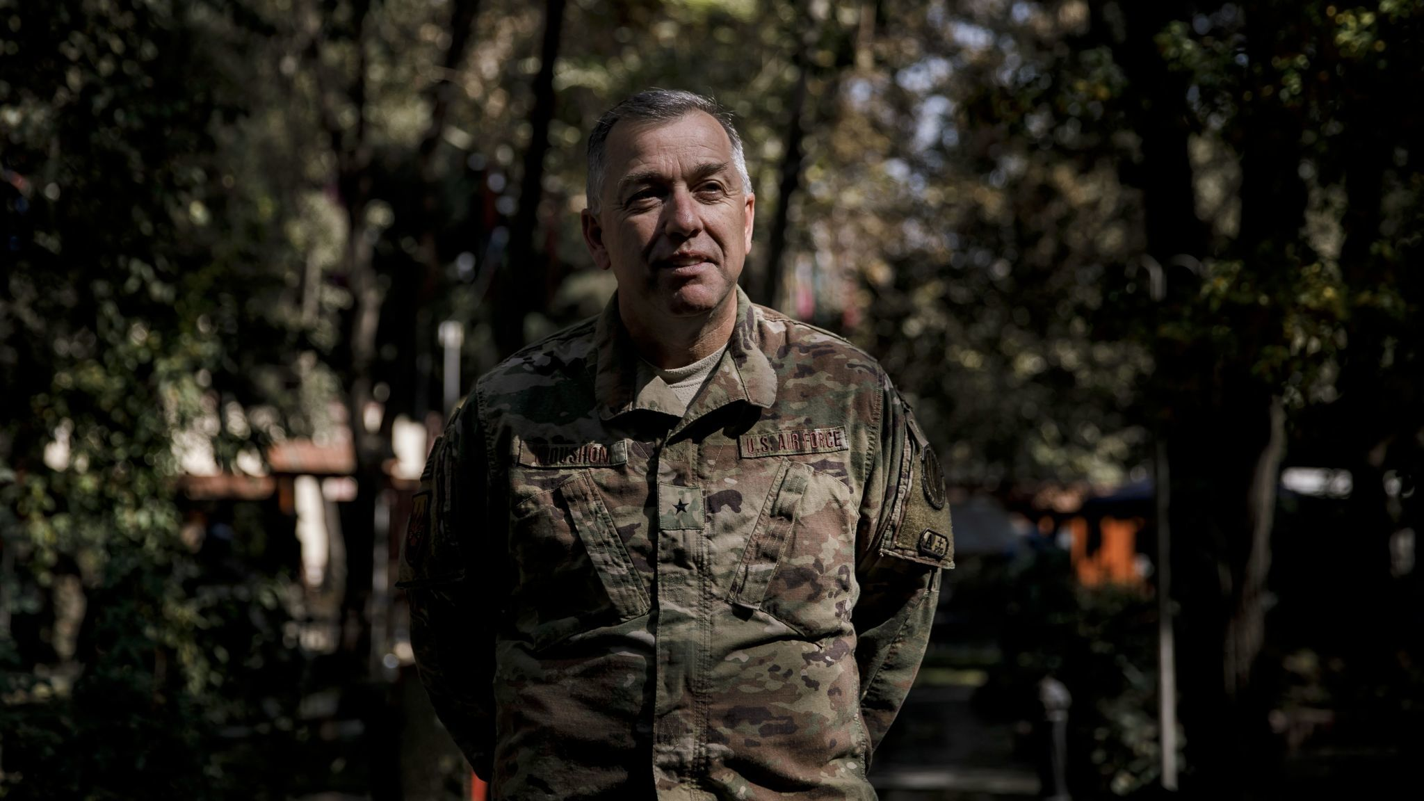 KABUL, KABUL PROVINCE — FRIDAY, OCTOBER 27, 2017: Brig. Gen. Clayton W. Moushon, the former directo