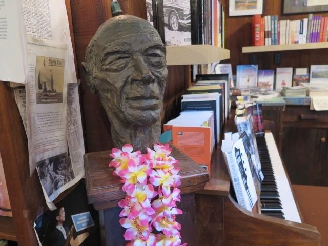 Bust of Henry Miller. (Thomas Curwen/Los Angeles Times)