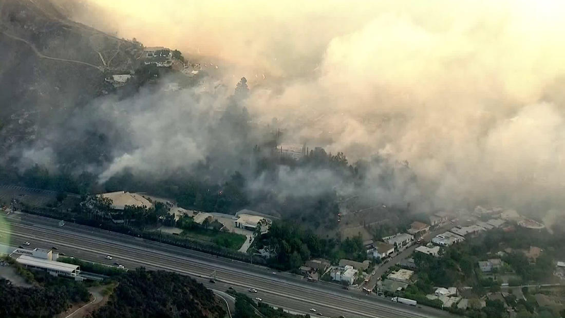 The Skirball fire prompted a full closure of the 405 Freeway and mandatory evacuations