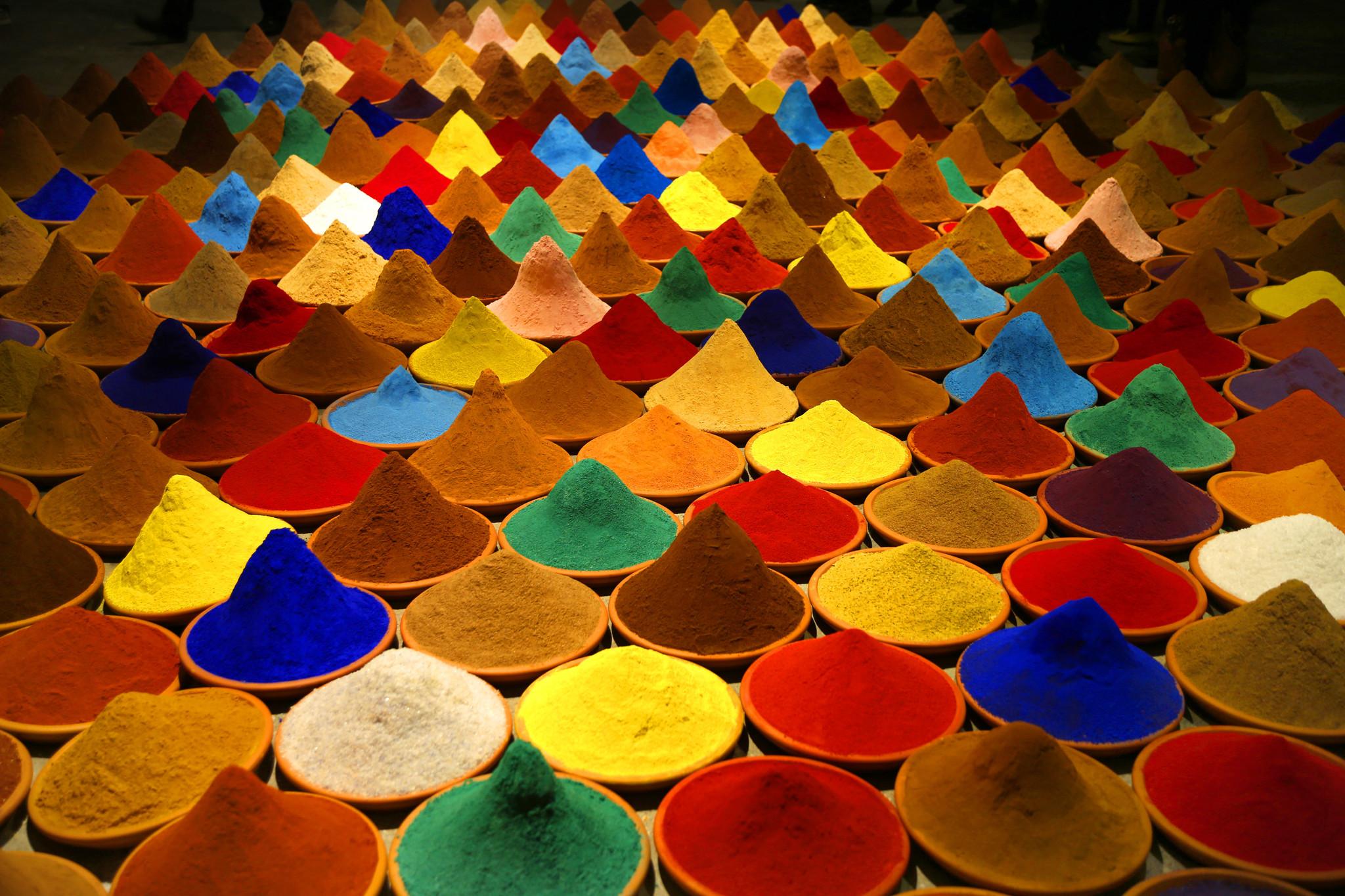 "Sonia Falcone's installation ""Campo de Color (Color Field),"" 2012."