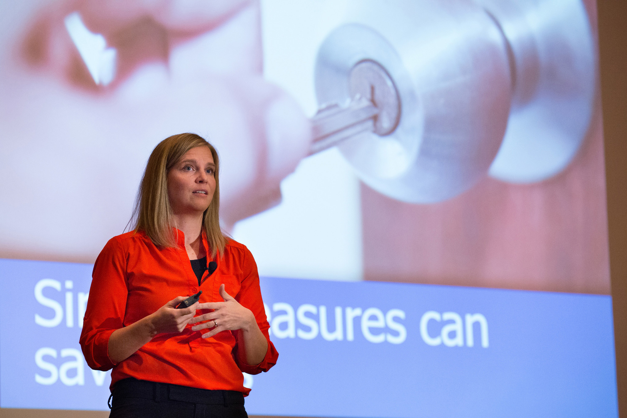 Alissa Parker speaks at the Delaware County DA