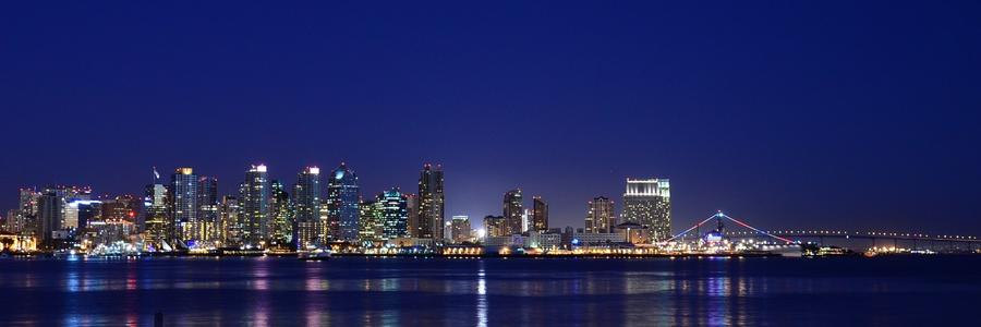 San Diego Bay, from Shelter Island (Christopher Reynolds / Los Angeles Times)