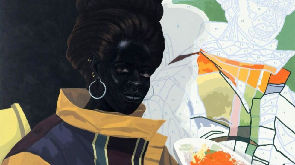 """Kerry James Marshall, """"Untitled (Painter),"""" detail, 2009, oil on canvas Nathan Keay (Nathan Keay)"""