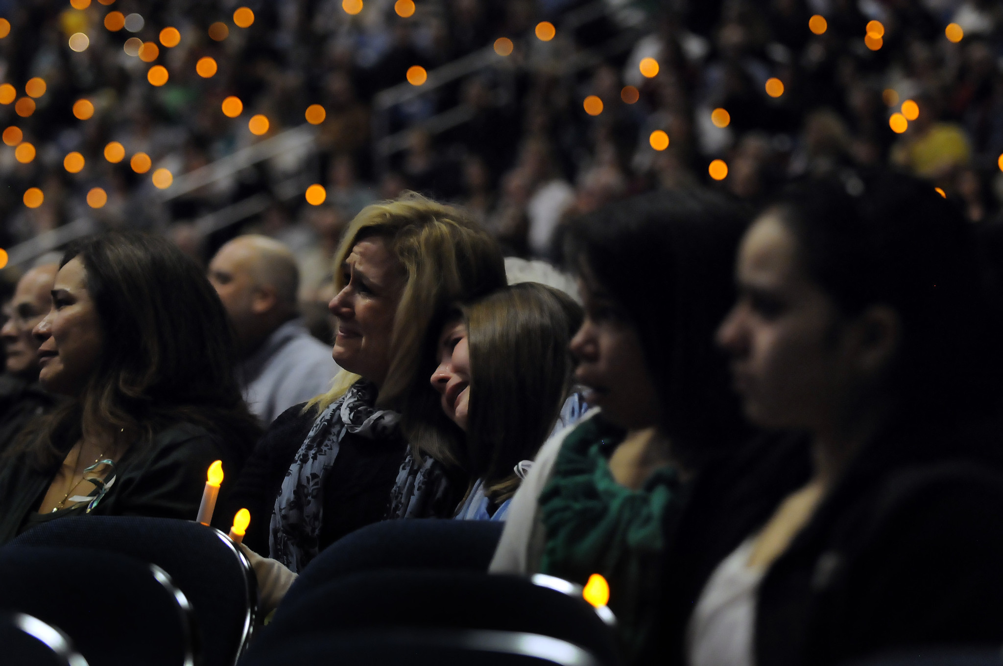 In the wake of the shooting, the entire state grieved. This photo was taken at a vigil at Western Connecticut State University on Dec. 19, 2012.