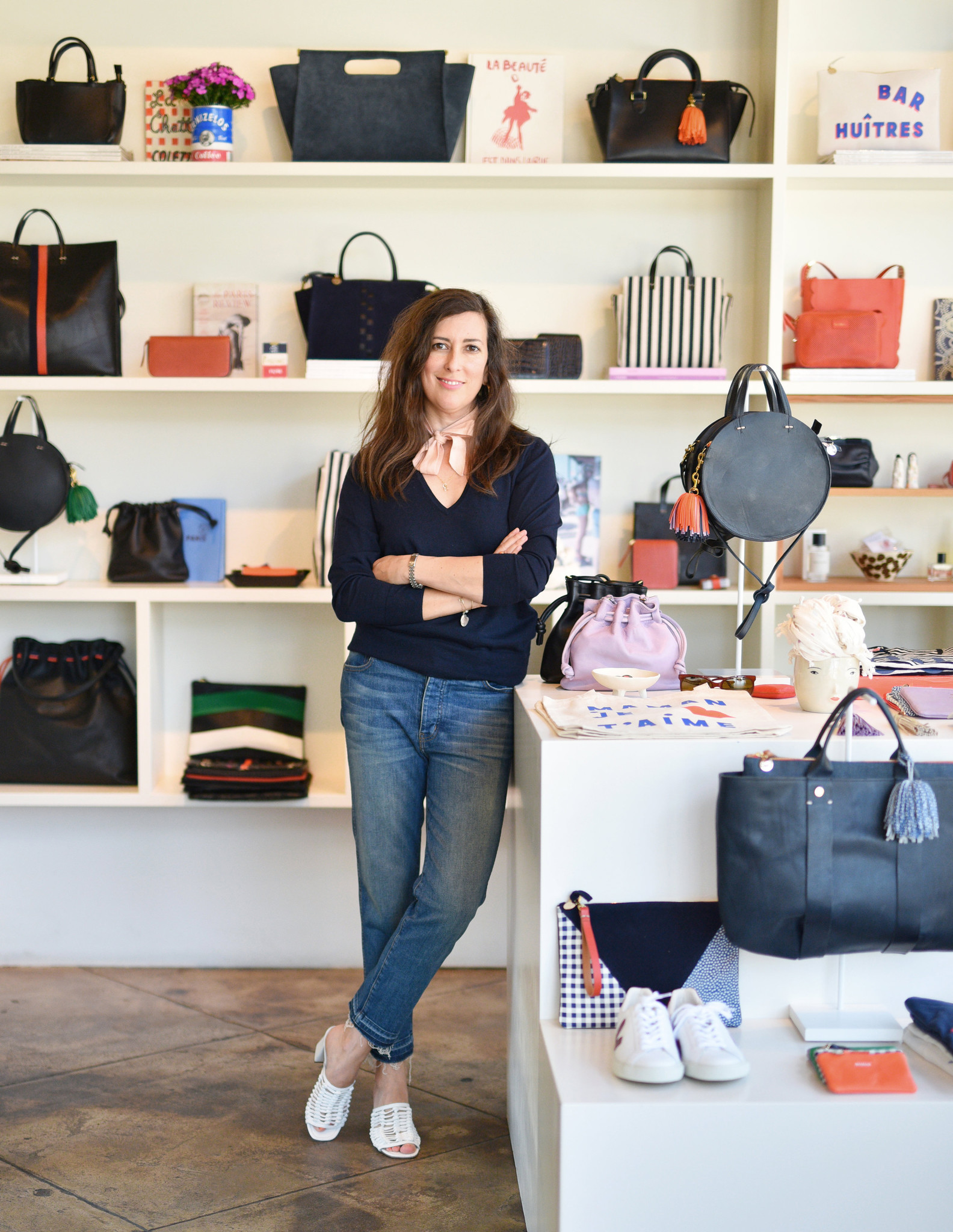 Clare Vivier in her Silver Lake store.