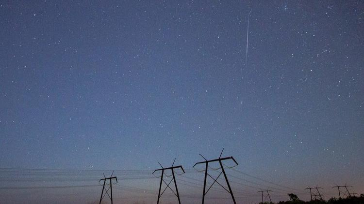 Meteor shower over the Everglades