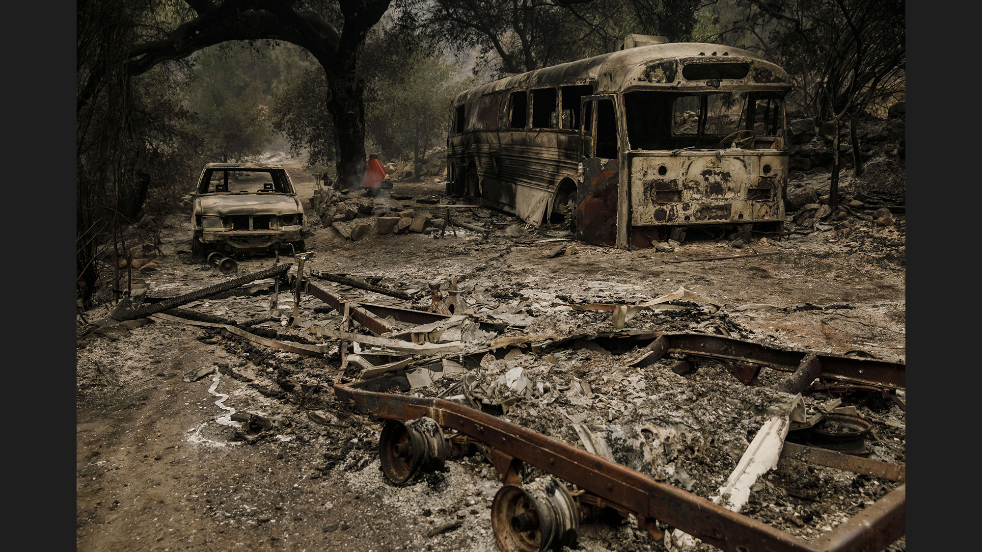 Thomas fire leaves behind barren 'moonscape' as it threatens Montecito, Carpinteria
