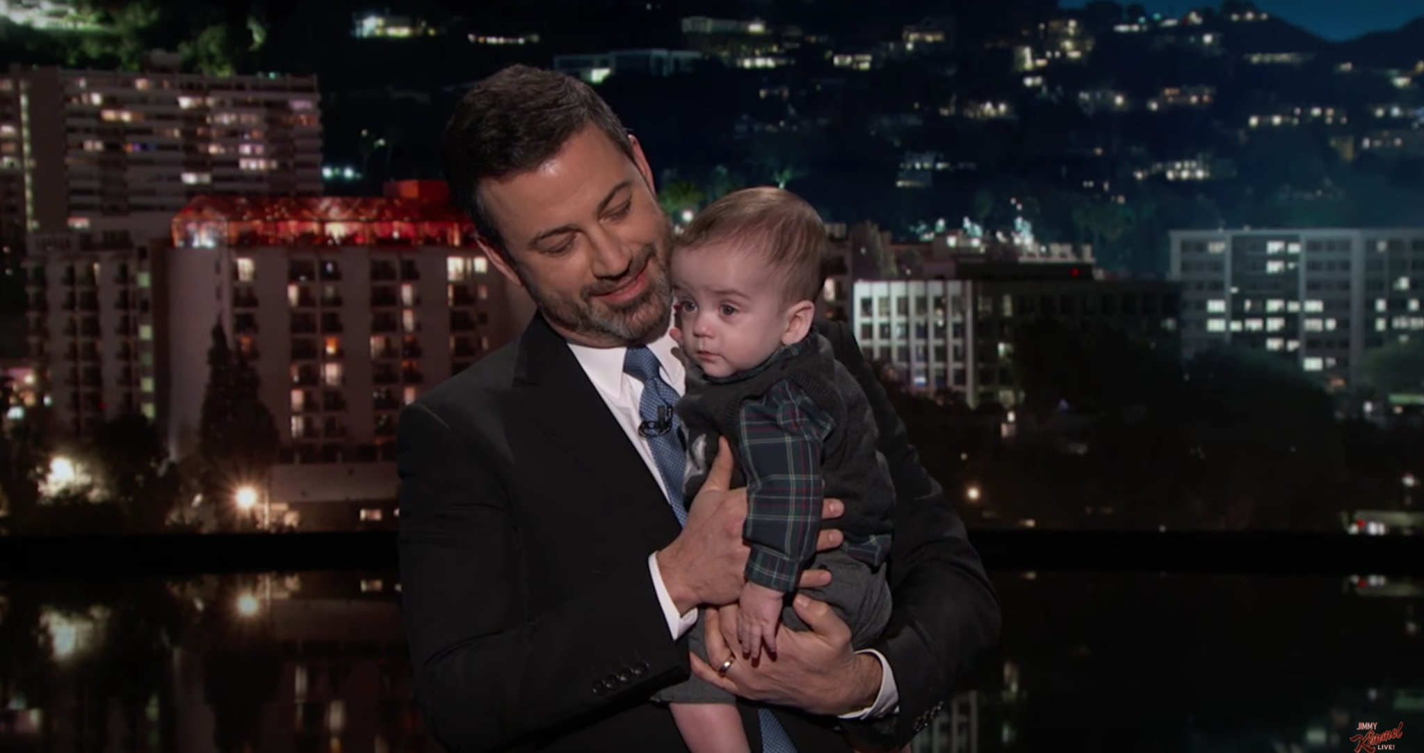 Jimmy Kimmel brings son on 'Jimmy Kimmel Live' asks Congress to renew CHIP