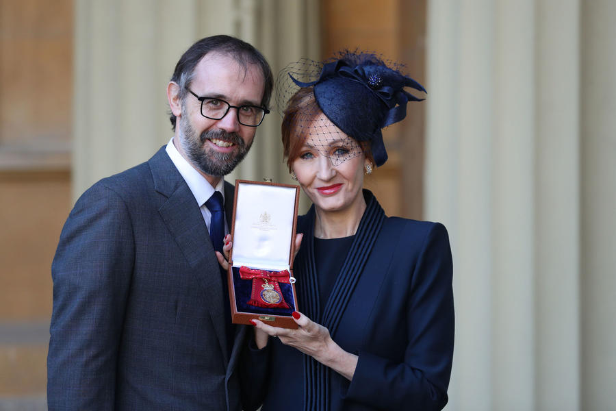 JK Rowling becomes Companion Of Honour at Buckingham Palace