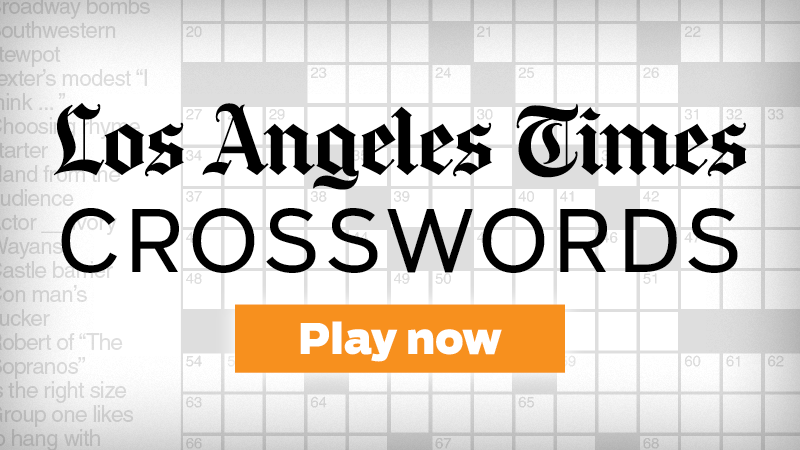 L A Times Daily Crossword Chicago Tribune