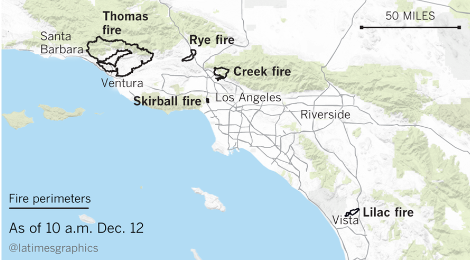 The Southern California fires