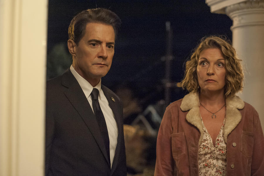 """Kyle MacLachlan and Sheryl Lee in """"Twin Peaks: The Return."""" (Suzanne Tenner / Showtime)"""