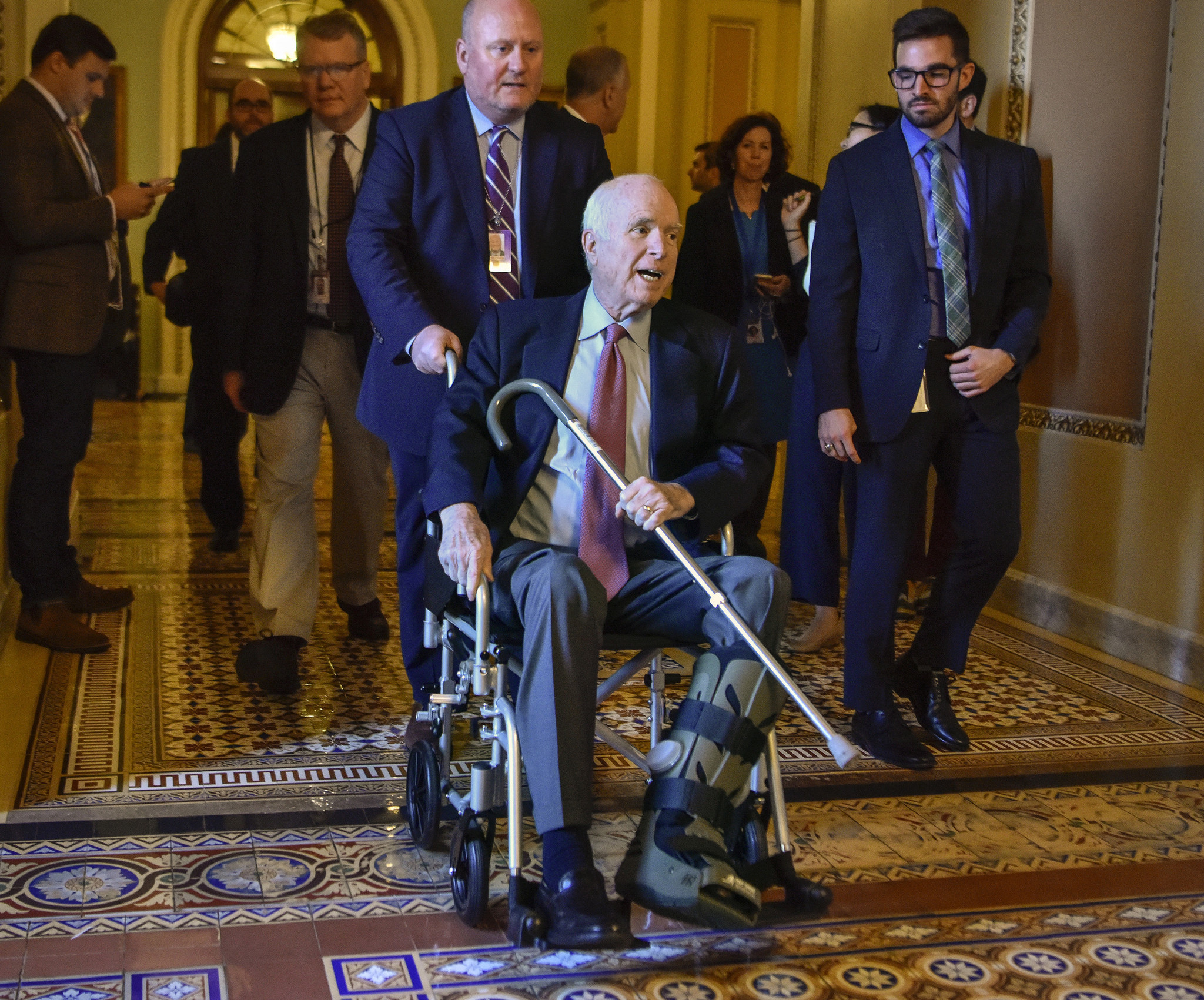 Image result for mccain in hospital