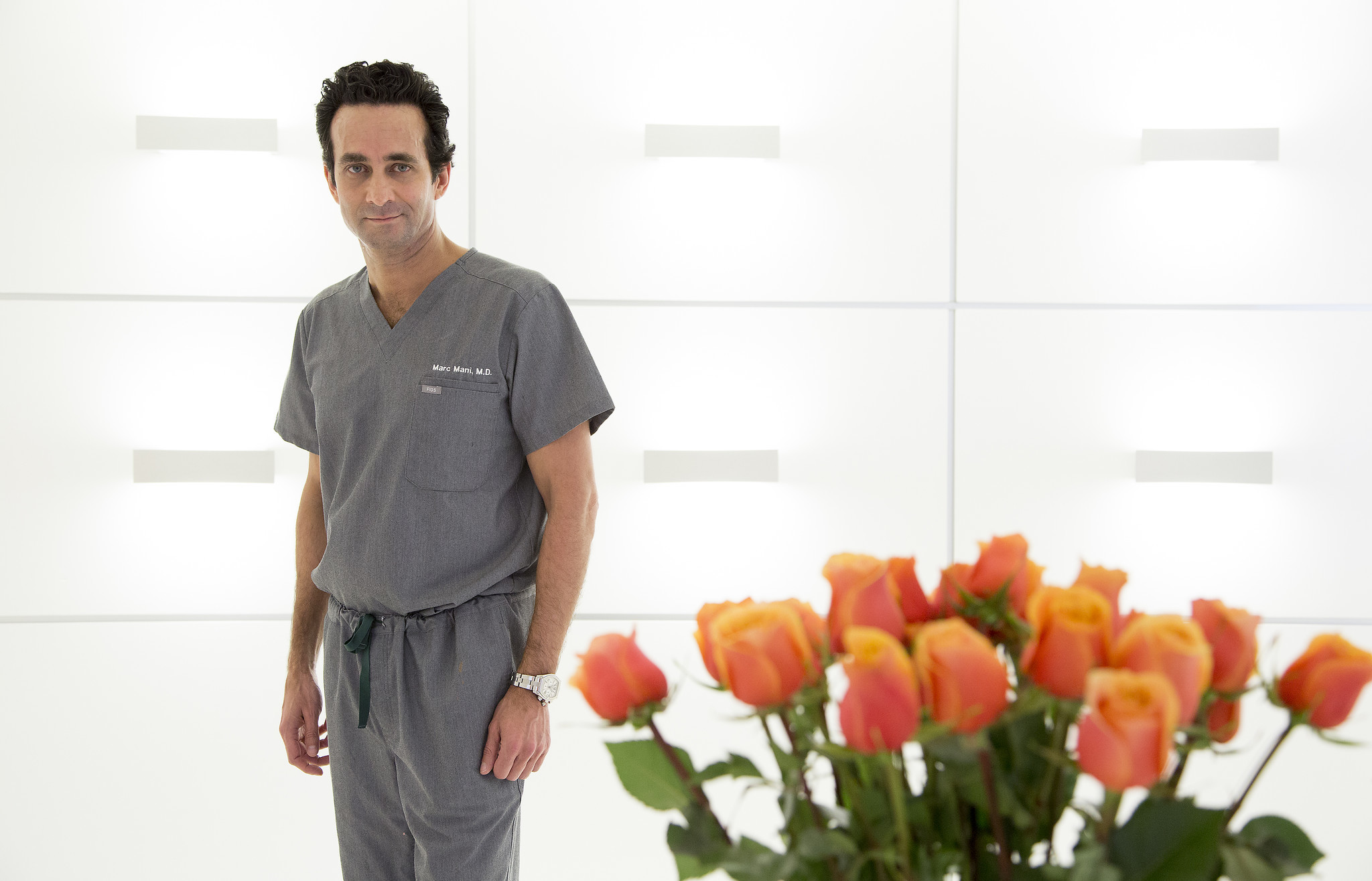 BEVERLY HILLS, CA - MAY 22, 2017: Marc Mani performs MIST (Minimally Invasive Stromal Transfer), an