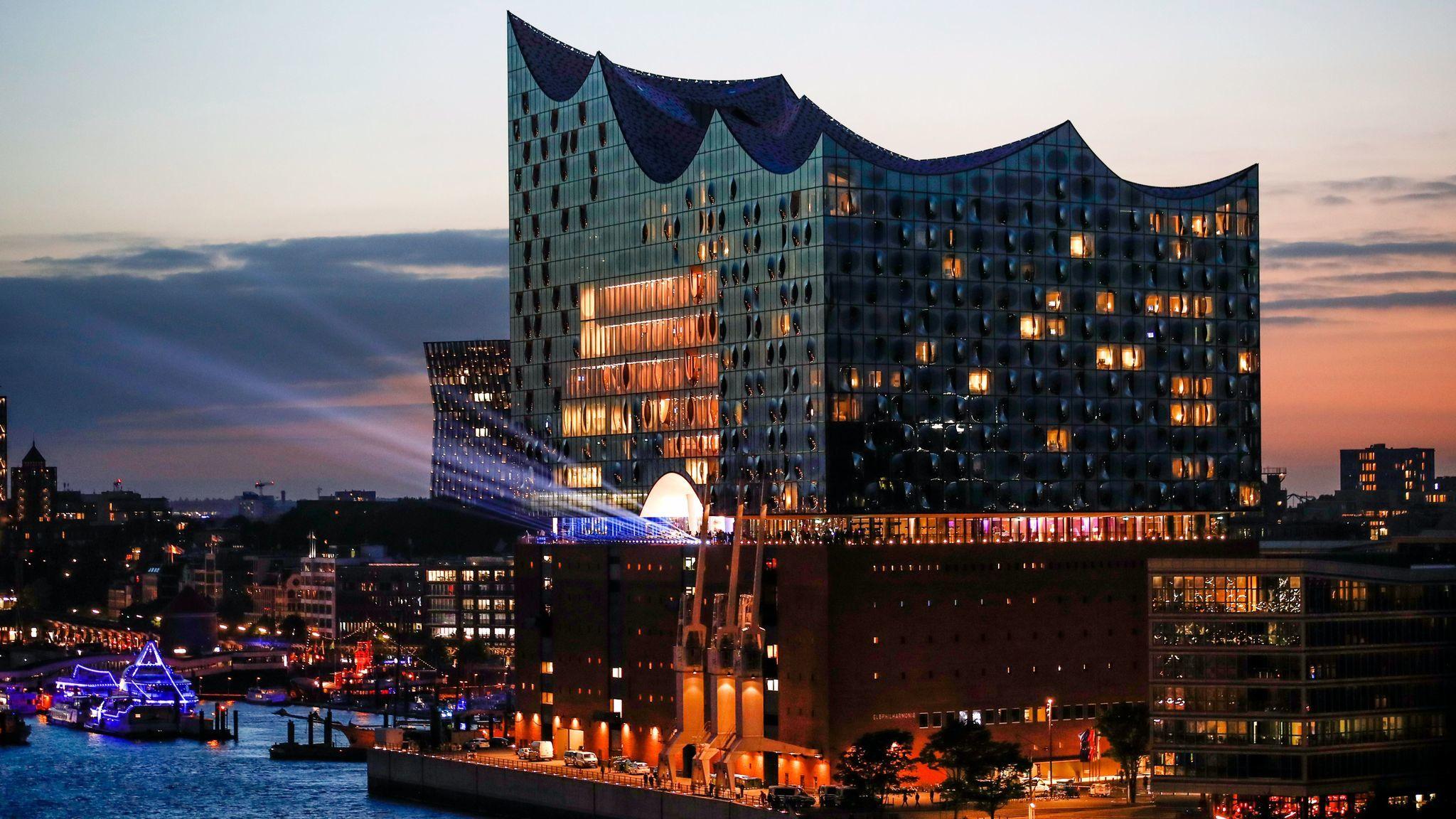 The Elbphilharmonie concert hall in Hamburg, Germany. (Franziska Krug / Getty Images)