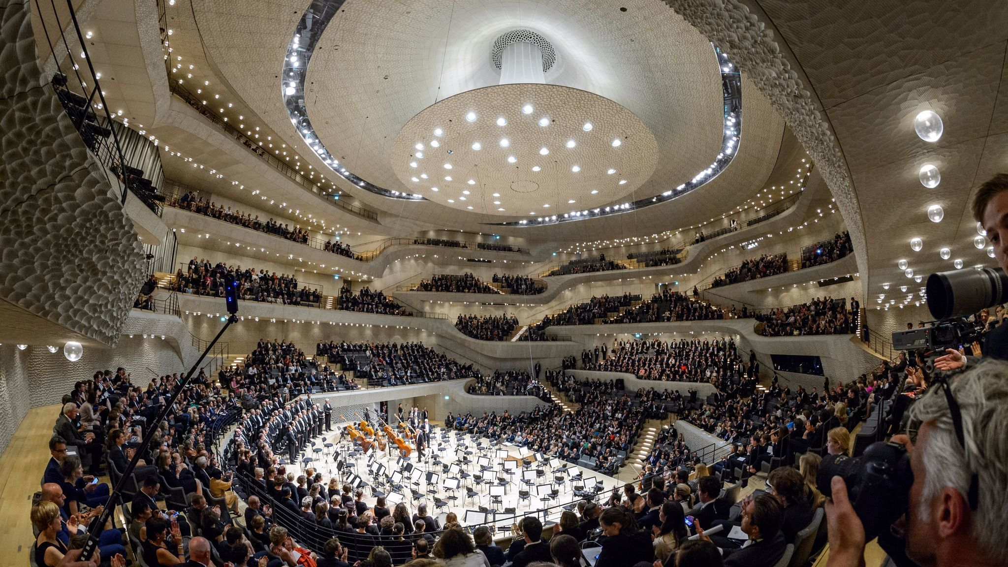 Inside the Elbphilarmonie concert hall in Hamburg, Germany. (Getty Images)