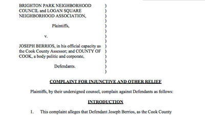 Lawsuit by Brighton Park and Logan Square neighborhood associations against Joseph Berrios