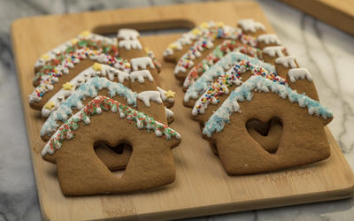 Gingerbread heart houses