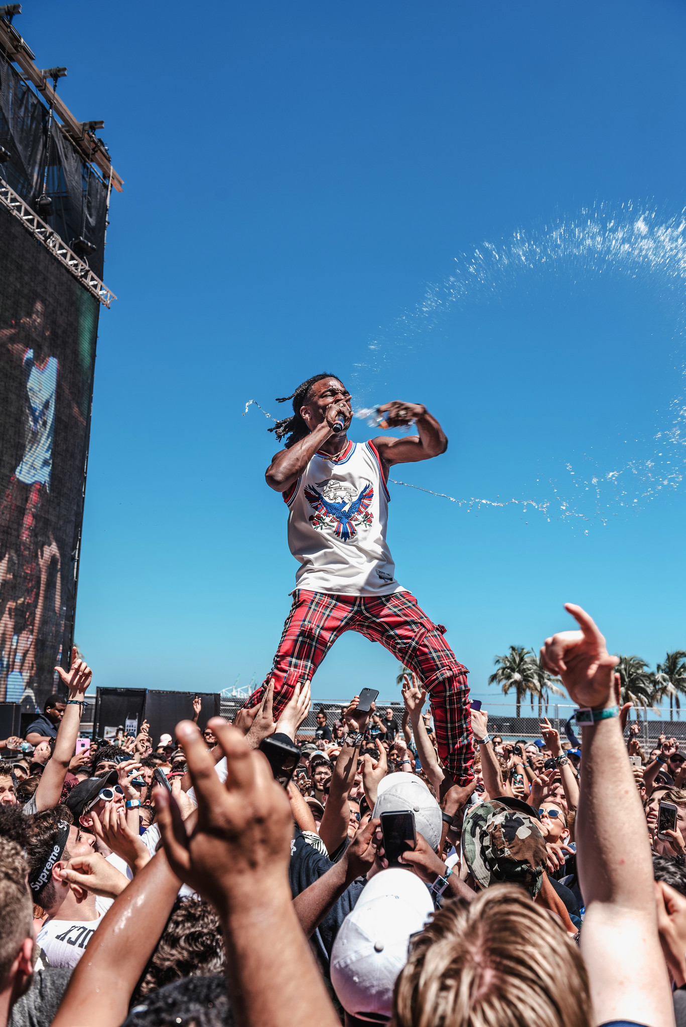 Jazz Cartier in performance at the Miami Rolling Loud festival. Aaron Ricketts/Rolling Loud