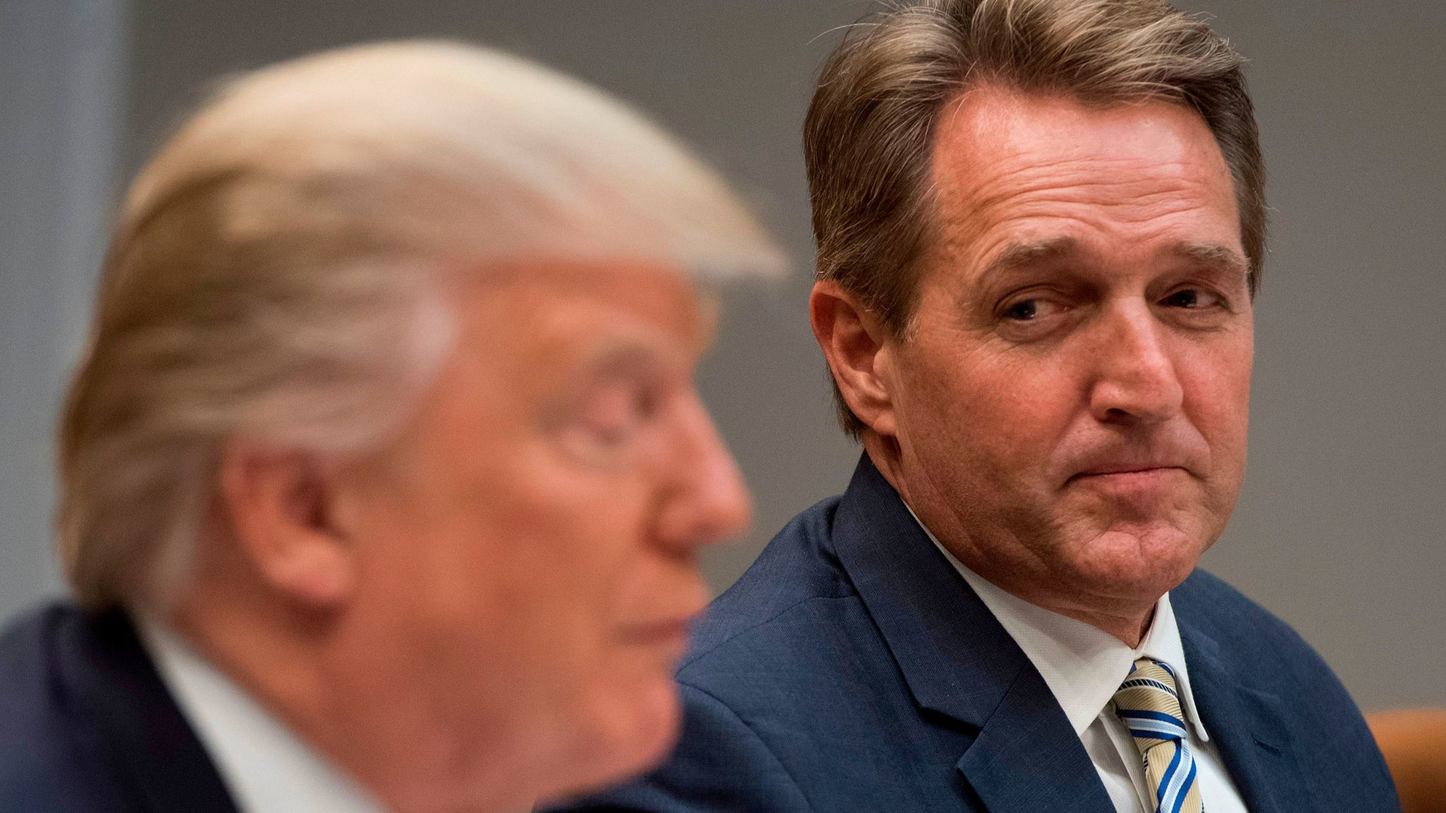 President Trump and Sen. Jeff Flake