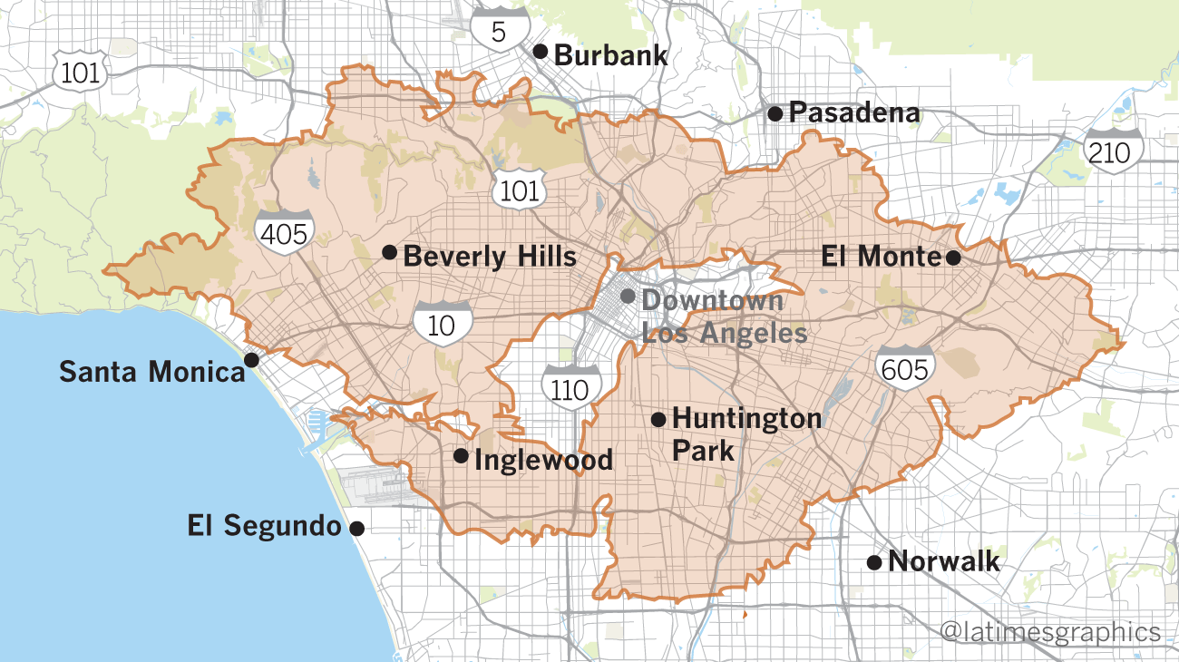 Maps Show Thomas Fire Is Larger Than Many U S Cities Los Angeles