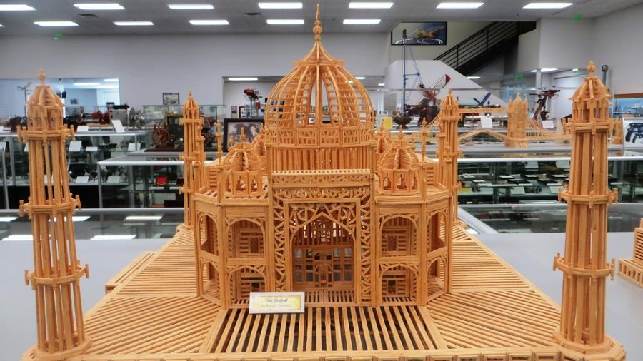 A Taj Mahal made of matchsticks. (Irene Lechowitzky)
