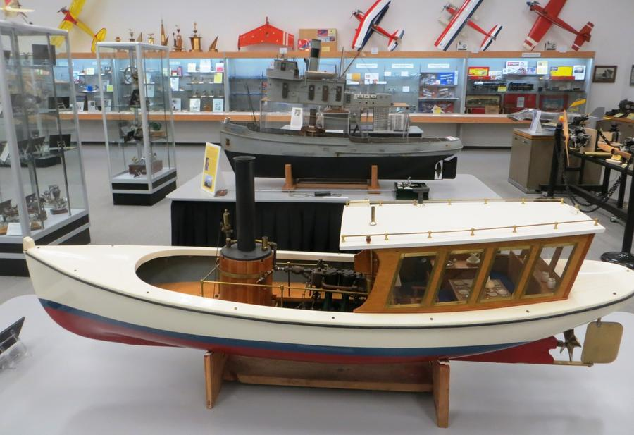 English canal boat model. (Irene Lechowitzky)