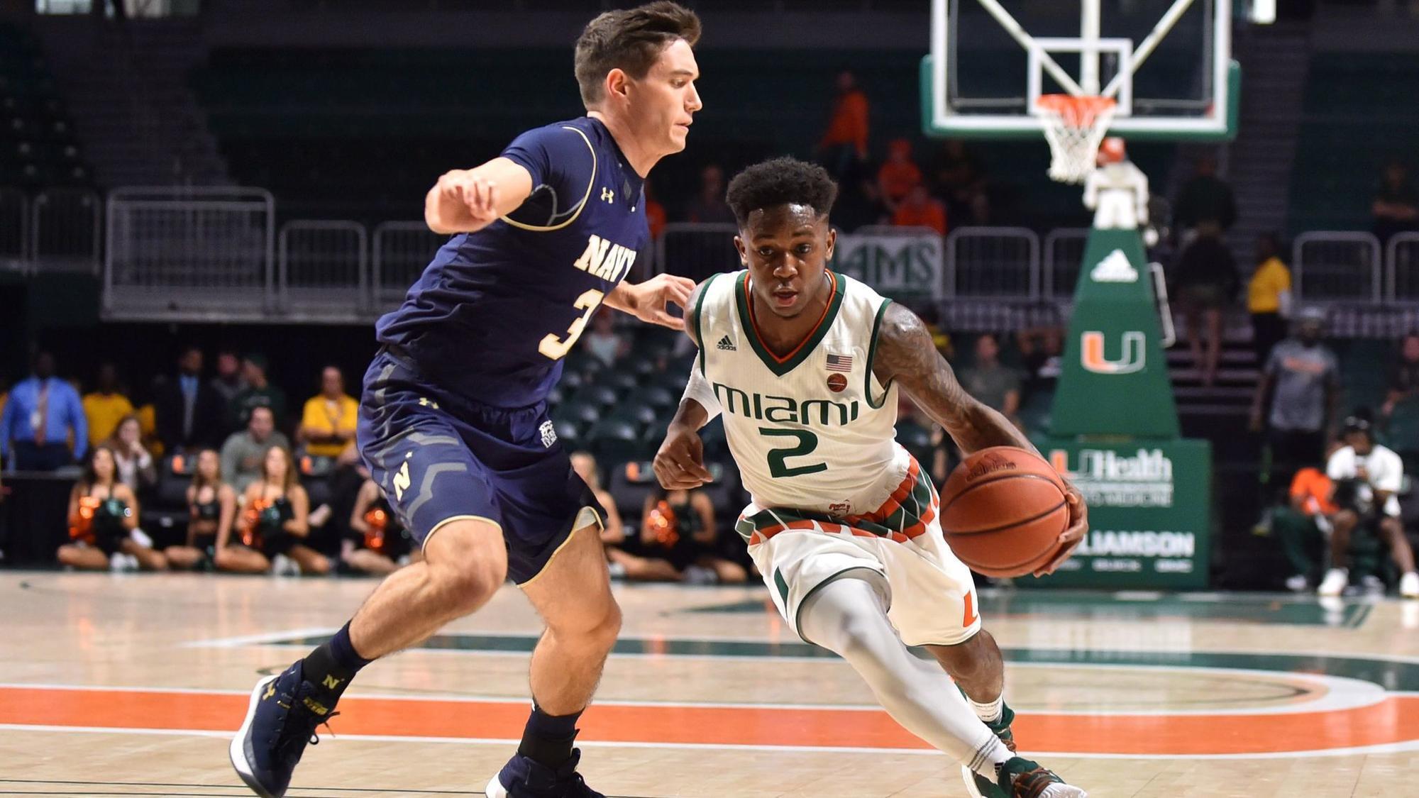 Chris Lykes Miami Hurricanes Basketball Jersey - Green