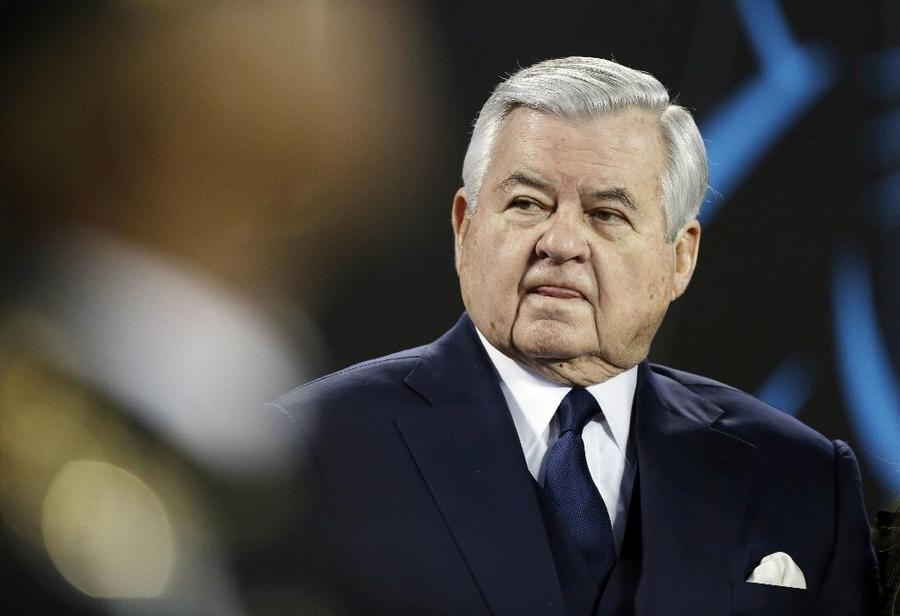 Panthers owner Jerry Richardson before the 2016 NFC Championship game against the Cardinals. (Bob Leverone / Associated Press)