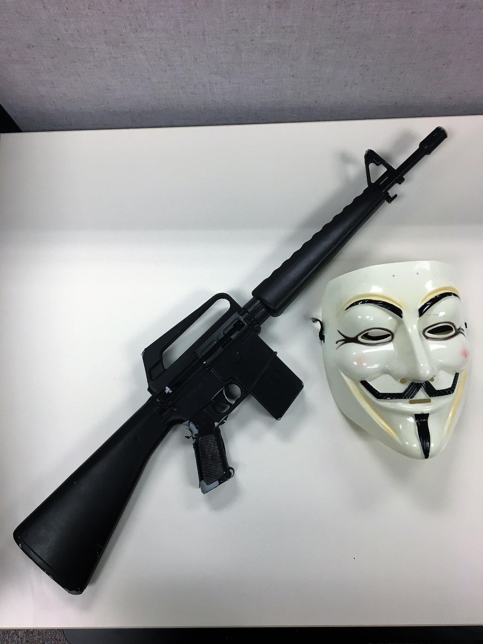 Masked Mundelein juvenile pointed replica assault rifle at drivers near Long Grove: police