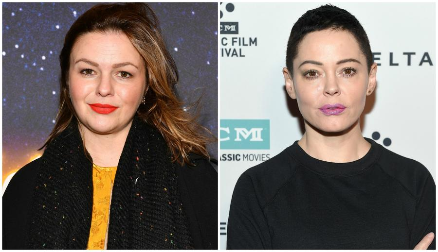 Amber Tamblyn and Rose McGowan (Matt Winkelmeyer / Getty Images, left; Dia Dipasupil / Getty Images, right)