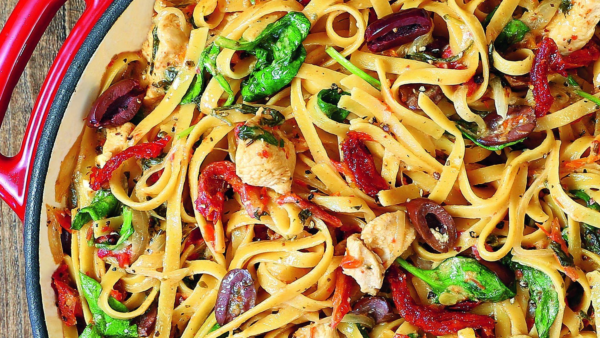 Chicken pasta dish for easy weeknight dinner