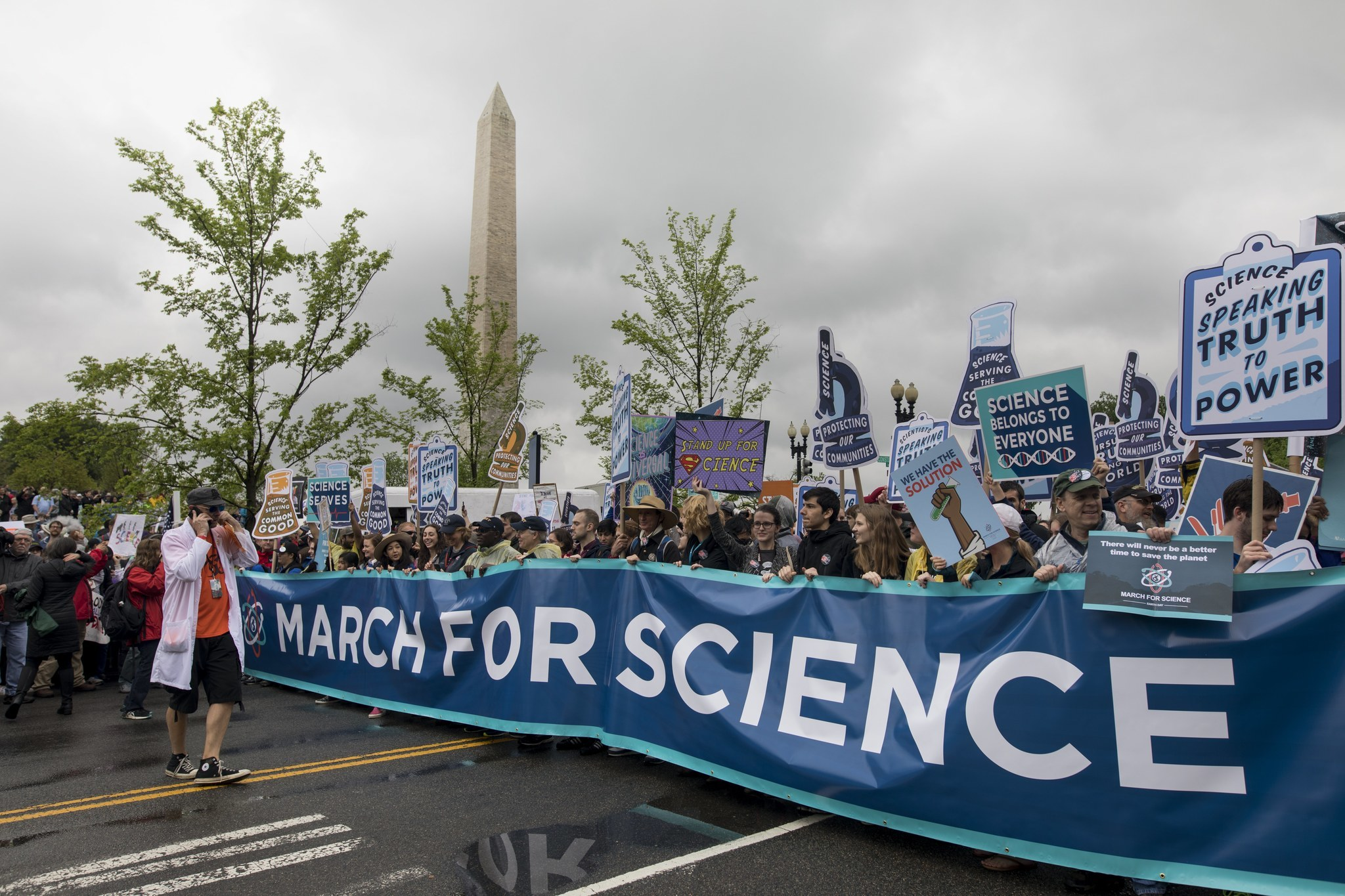 March for Science demonstration in Washington DC