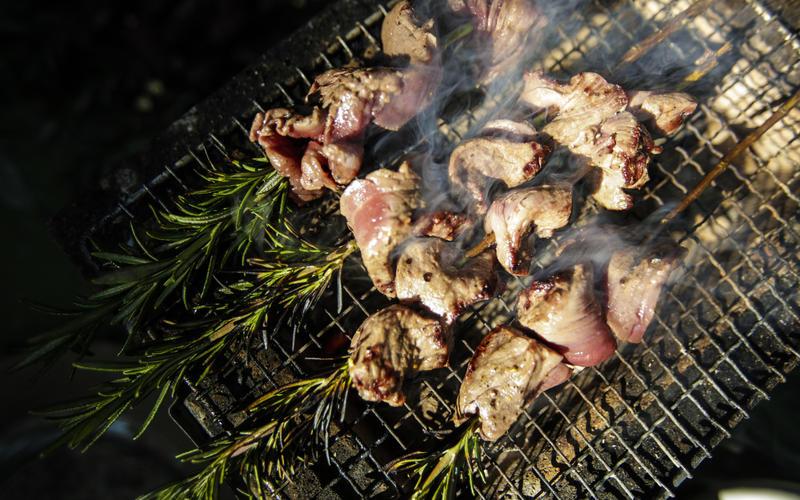Rosemary steak skewers