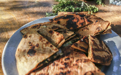 Sonora flatbreads stuffed with winter greens