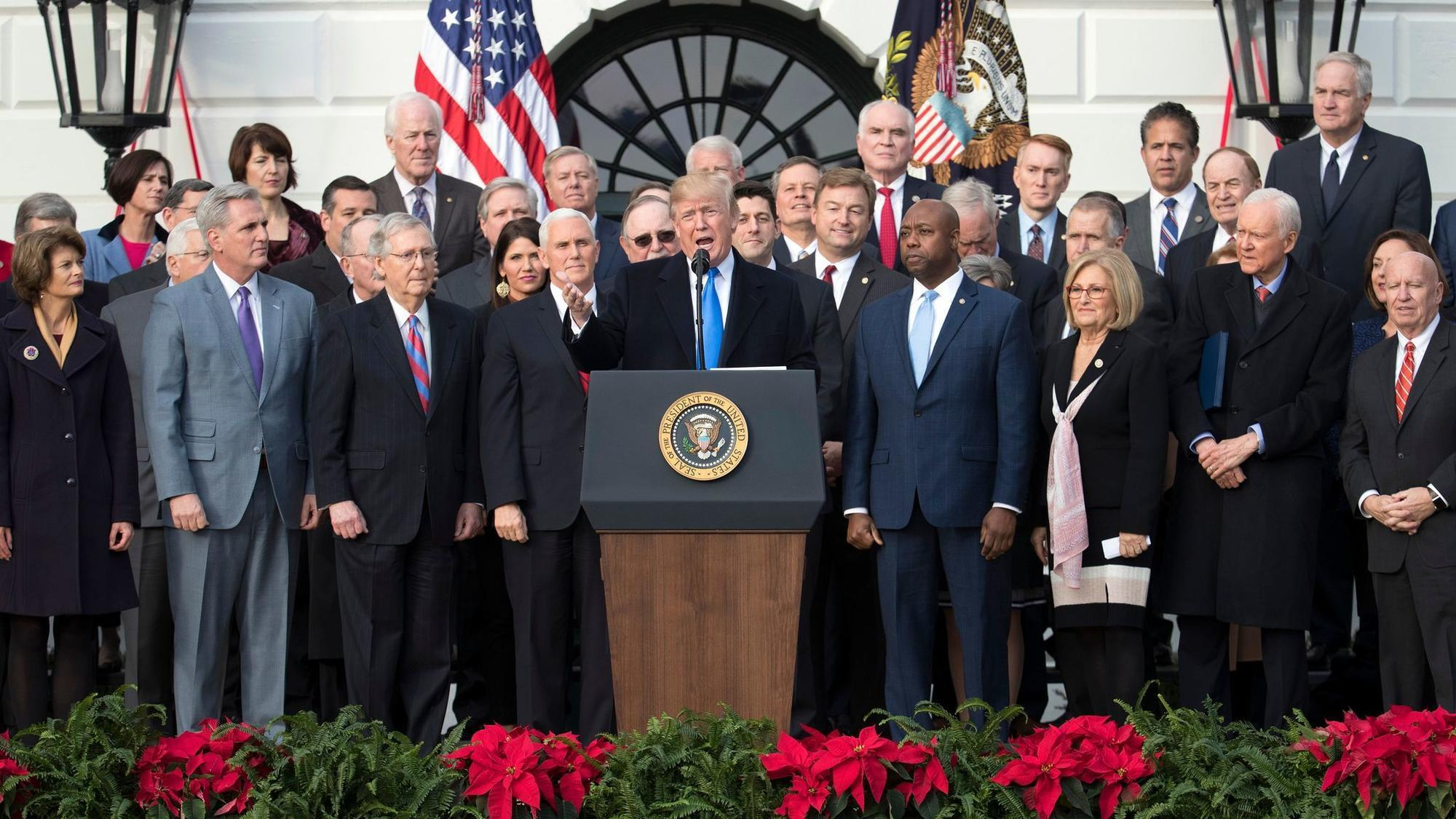 Image result for trump wins with tax bill