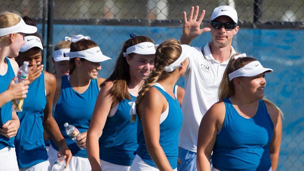 Corona del Mar girls' tennis coach Jamie Gresh