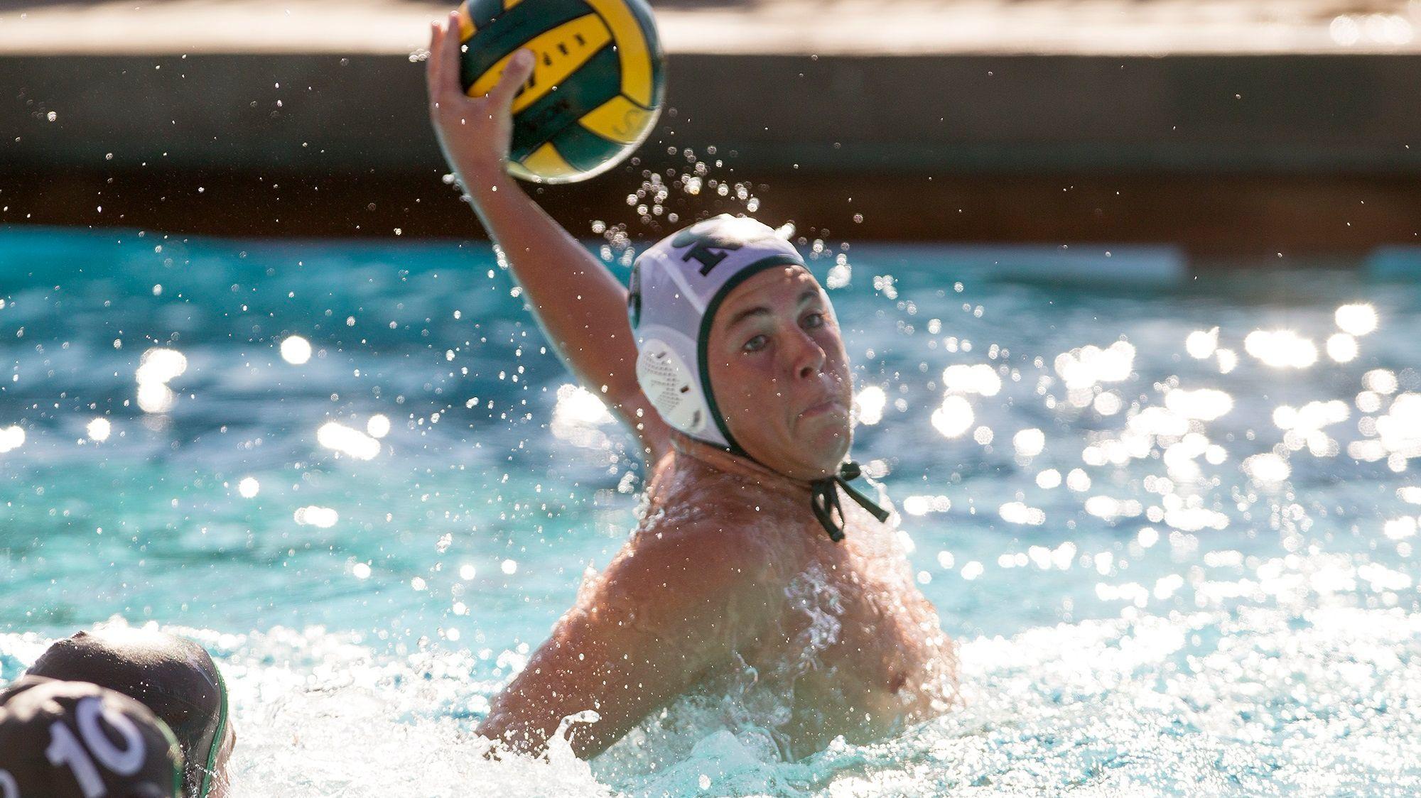 Costa Mesa boys' water polo player Caedmon Fisher