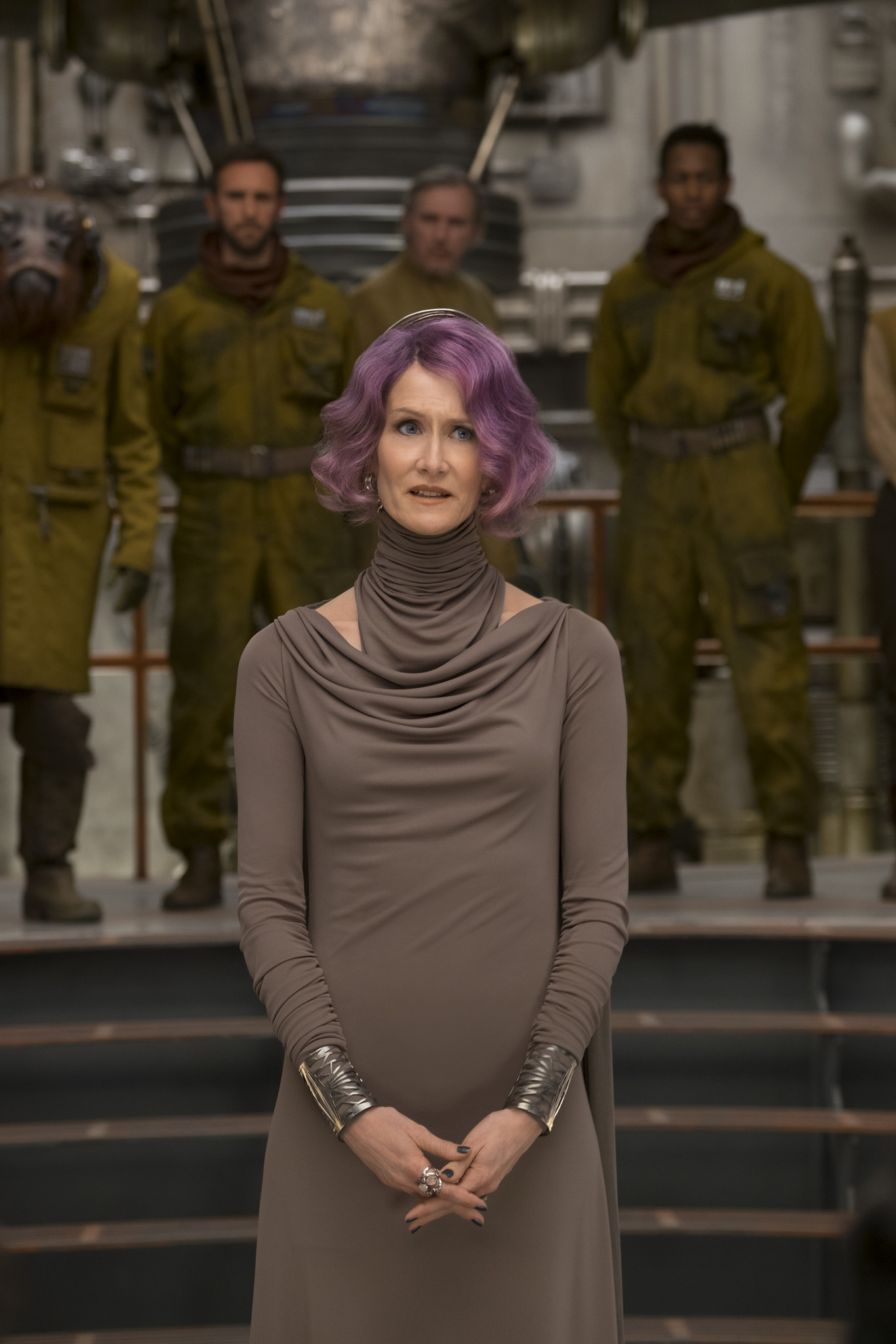 "Laura Dern as Vice Adm. Holdo in ""Star Wars: The Last Jedi."""
