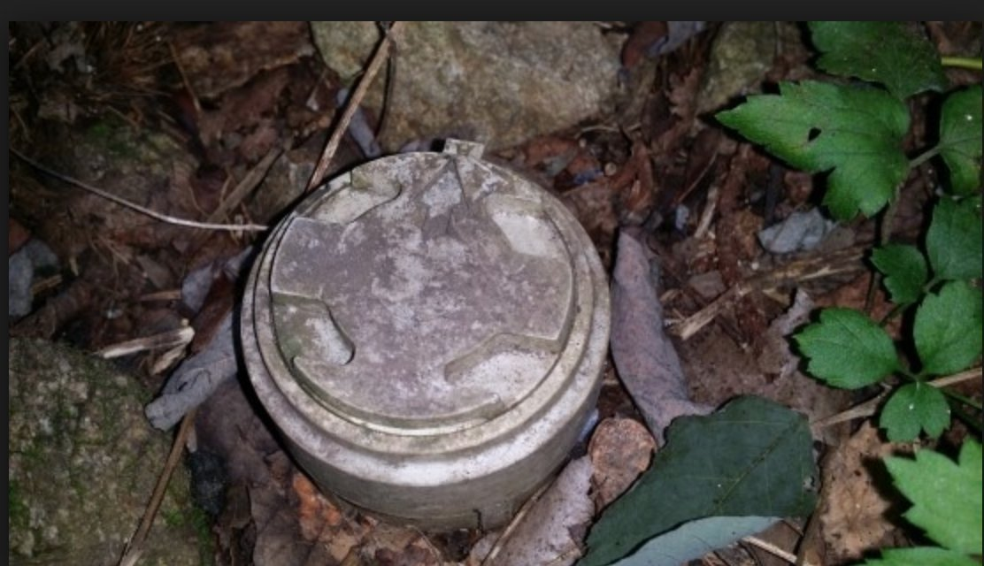 The plastic M14 landmine used in the DMZ.