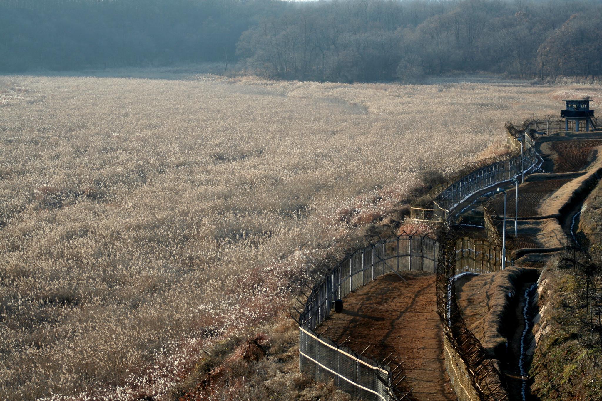 The southern edge of the Demilitarized Zone, South Korean military guard post near Cheorwon, South Korea