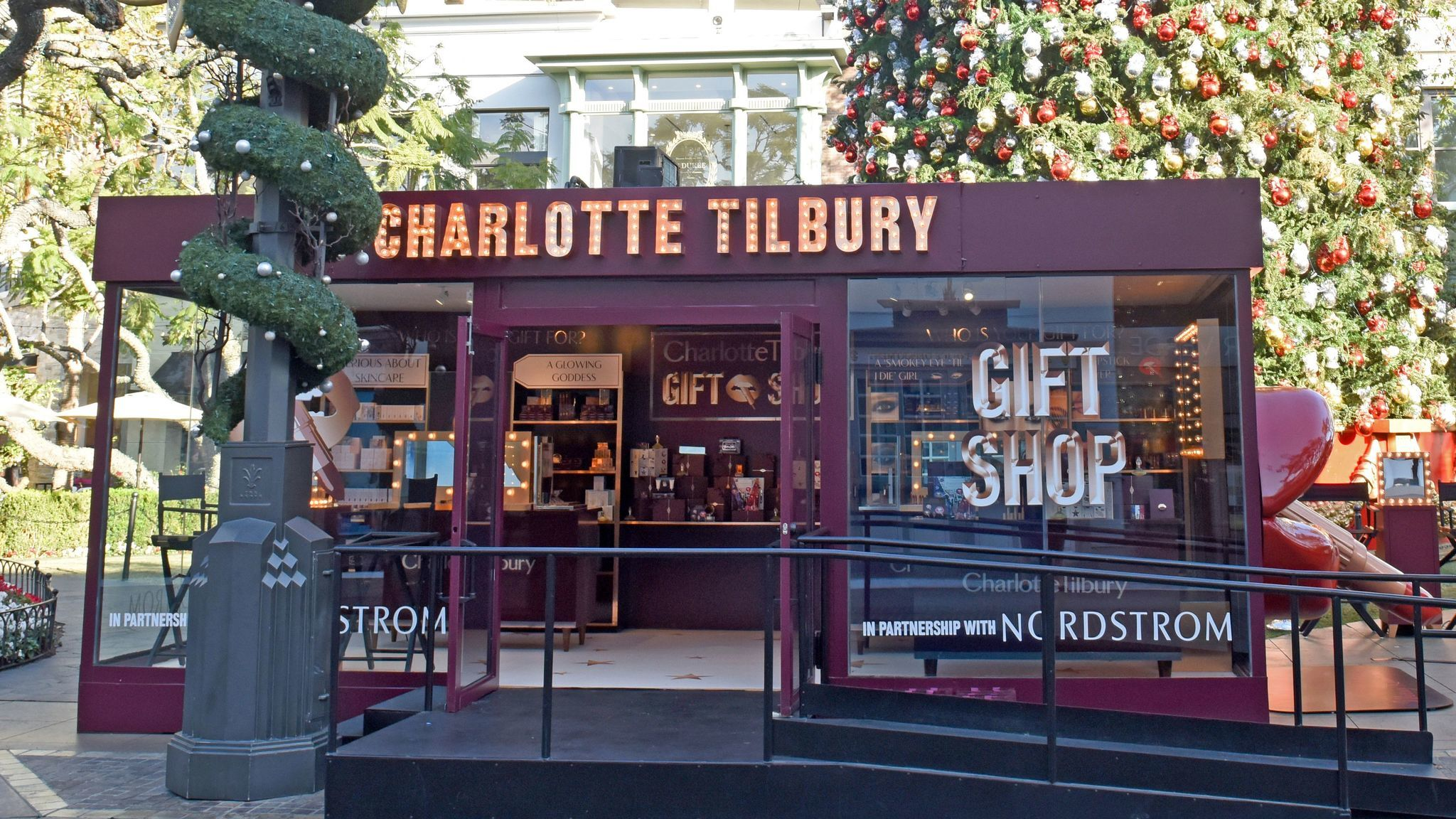 The first U.S. pop-up for popular British beauty brand Charlotte Tilbury is up through the end of the year at the Grove in Los Angeles.