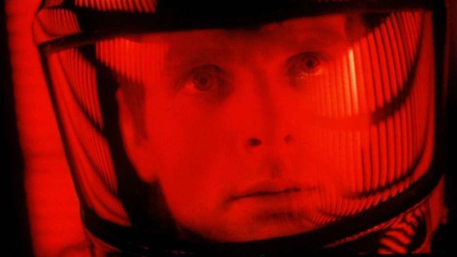 "Keir Dullea in Stanley Kubrick's ""2001: A Space Odyssey."""